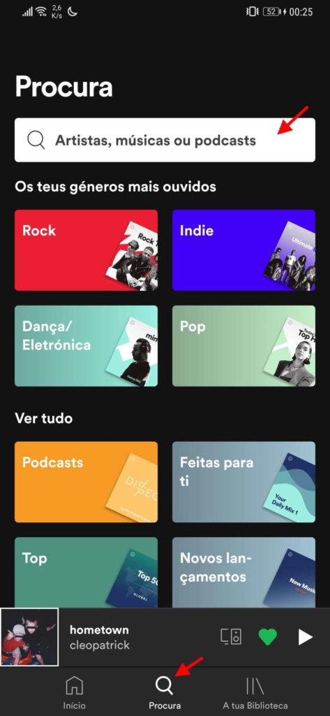 Spotify música partilhar código contactos