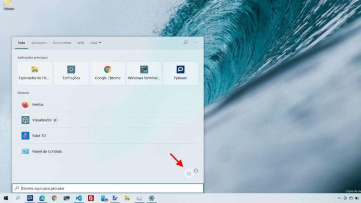 Windows 10 pesquisa imagens Microsoft captar