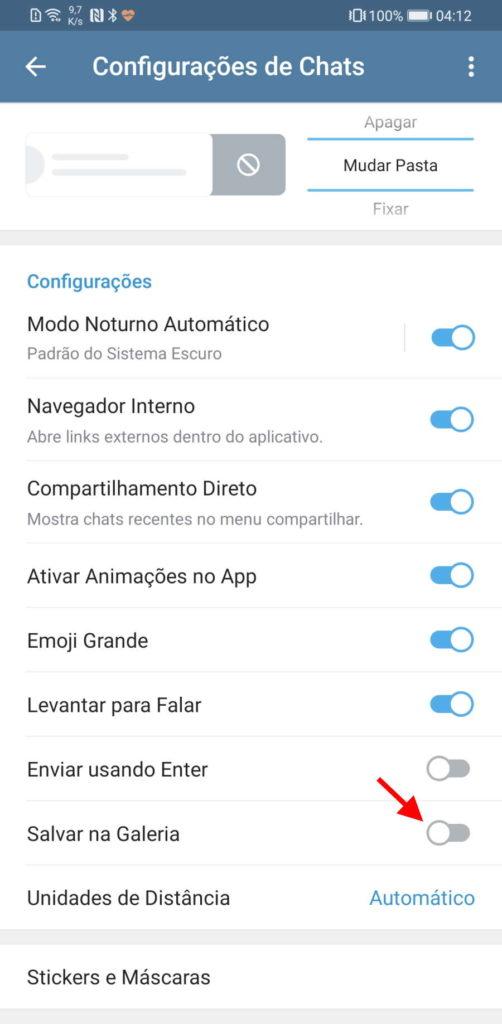 Telegram imagens Android galeria