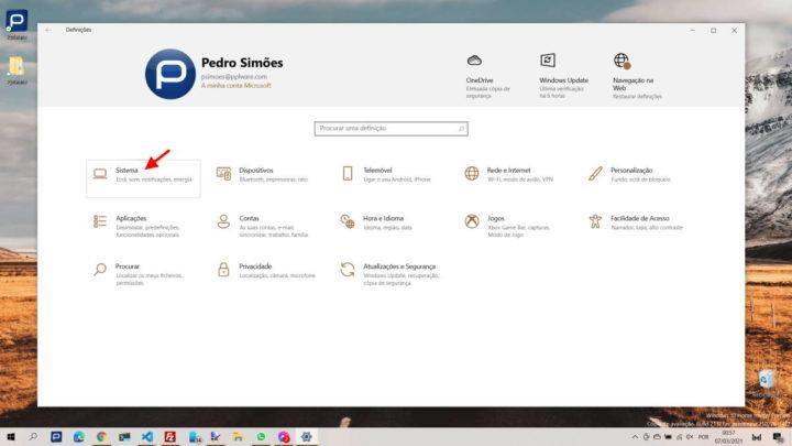 Windows 10 ecrã bateria tempo recursos