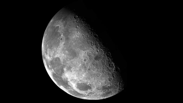 Imagem da Lua que será explorada pela China e pela Rússia