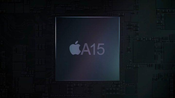 Ilustração de SoC de 5 nm. O A15 para o iPhone 13 da Apple