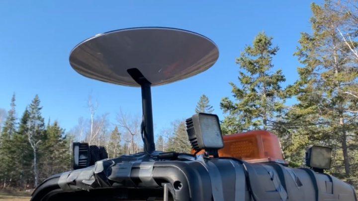 Imagem antena satélite Starlink