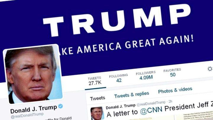 Imagem da rede social de Donald Trump, ex-presidente dos EUA