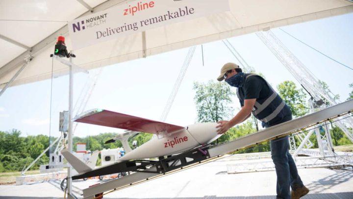 Zipline, entrega de fármacos através de drone