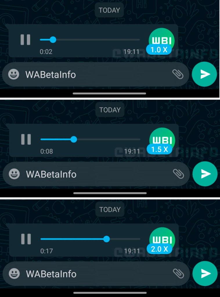 WhatsApp mensagens voz velocidade novidade
