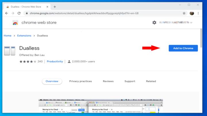 Adicionar Dualless ao Chrome