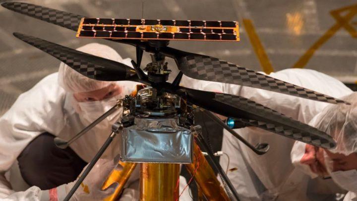 Imagem do helicóptero Ingenuity da NASA em Marte que tem um processador Qualcomm como o Google Nexus 5