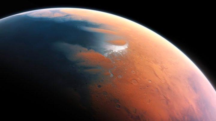 Imagem de Marte antigo com rios e oceanos