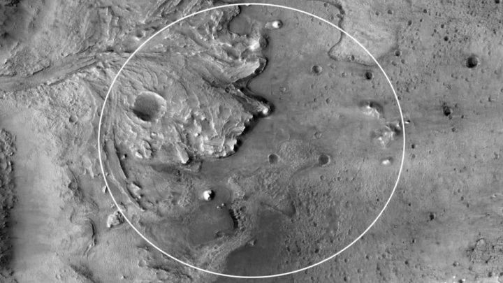 Imagem delta em Marte onde está o Perseverance