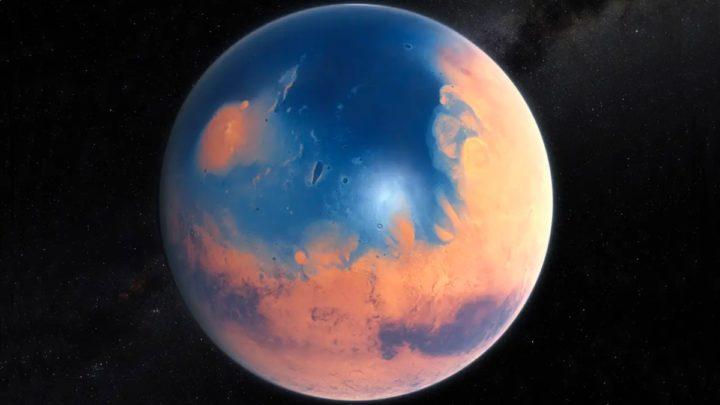 Imagem ilustração de Marte antigo