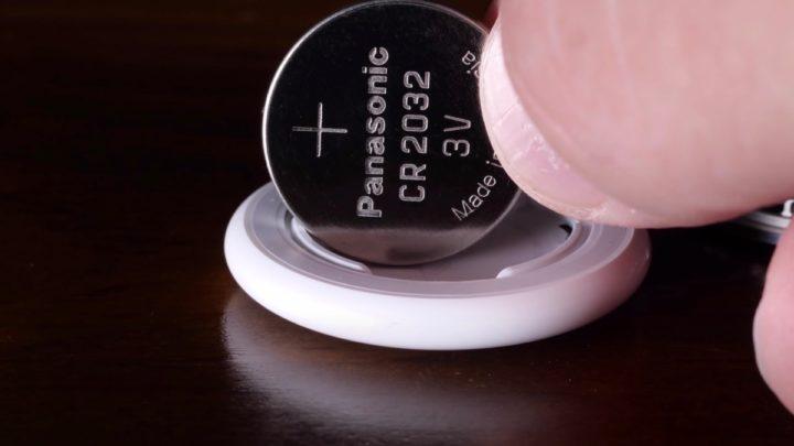 Imagem pilha tipo botão das etiquetas de localização da Apple