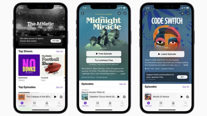 Spotify Apple podcasts streaming novidade
