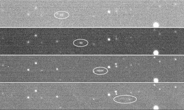 Imagen de la trayectoria del asteroide monitoreada por la NASA