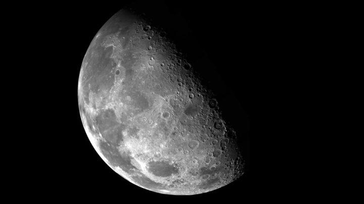 Ilustração do caminhar na Lua