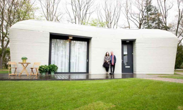 Casa totalmente impressa em 3D na Europa ja tem inquilinos