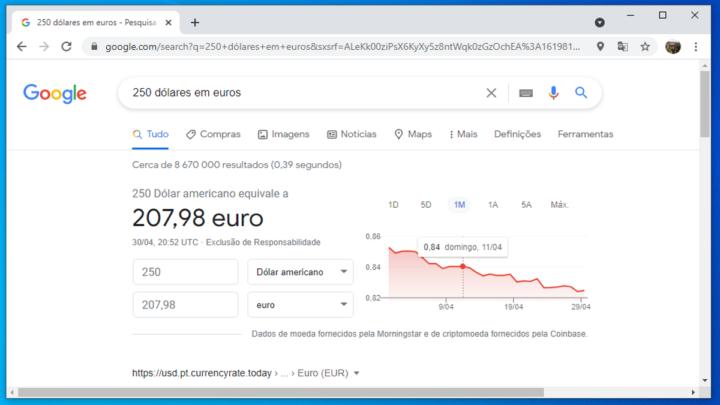 Imagem conversão de moeda