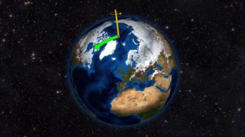 Imagem da Terra e do seu eixo