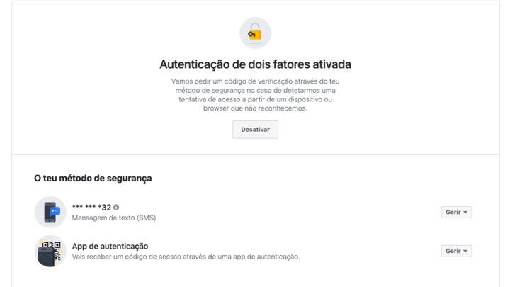 Segurança do Facebook: Ative já a Autenticação de dois Fatores