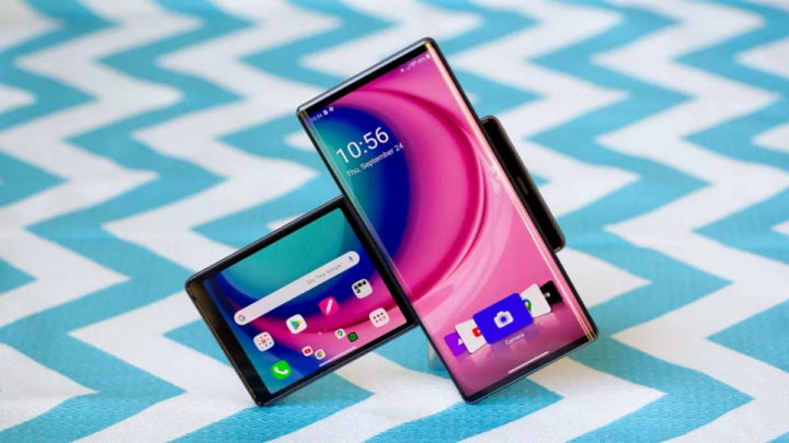 LG smartphones telefones divisão fechar