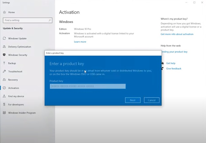 Chave digital para Windows 10 Pro, lifetime,na Goodoffer24