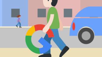 Rapaz a com o G da Google
