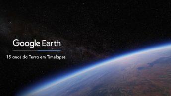 Imagem Google Earth com Timelipse