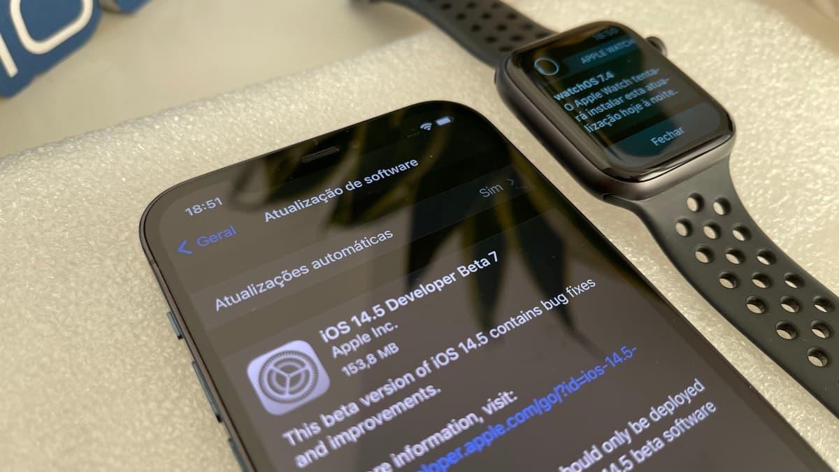 Imagem do iOS 14.5 beta 7
