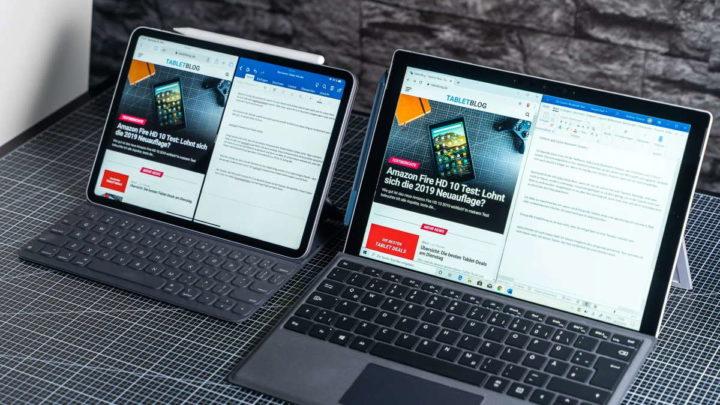 Surface Pro iPad Pro Microsoft Apple anúncio