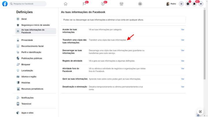 Facebook publicações exportar Google Doocs WordPress