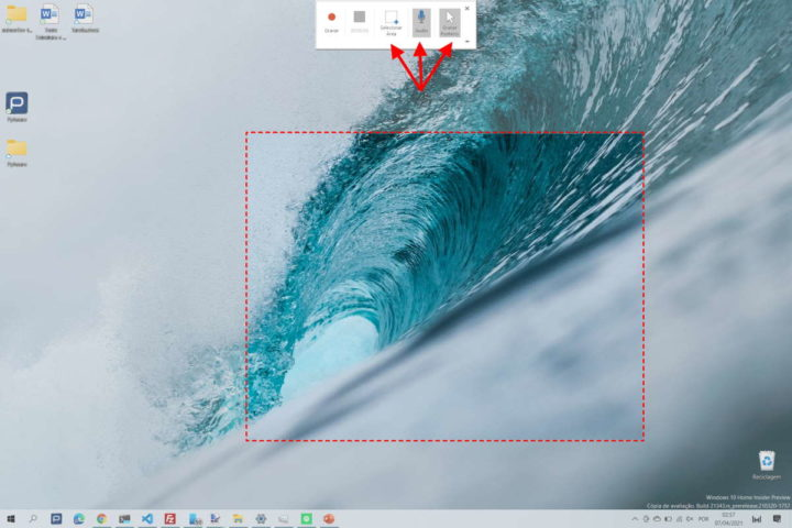 Windows 10 gravar vídeo PowerPoint desktop