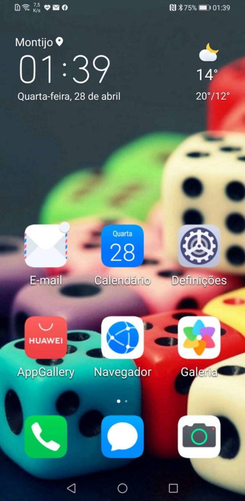 Huawei smartphone modo simples interface