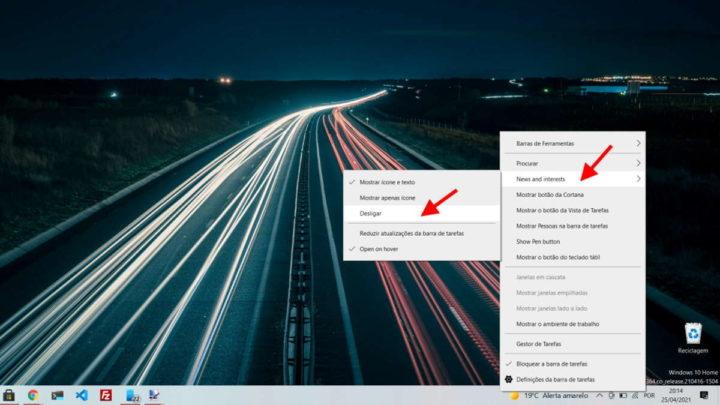 Windows 10 Microsoft novidade barra tarefas