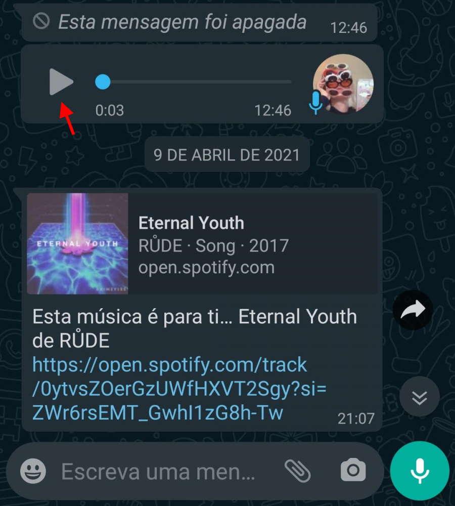 WhatsApp áudio mensagens voz novidades