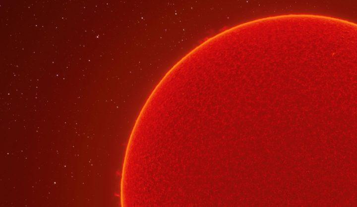 Imagem de pormenor da estrela
