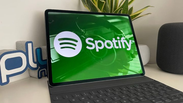 Imagem Spotify no iPad Pro da Apple