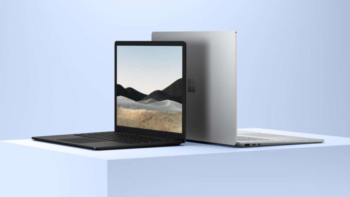Microsoft Surface Laptop 4 MacBook Air comparação