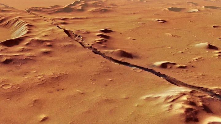Imagem do solo de Marte que sofre com constantes terramentos