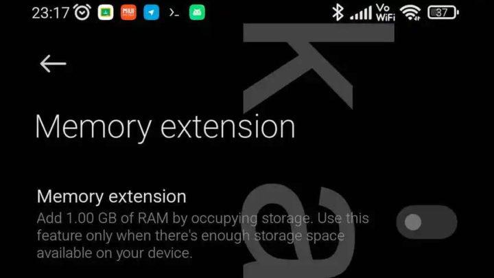 Xiaomi RAM memória armazenamento Android