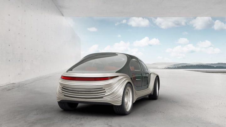 Imagem carro elétrico Airo que aspira e limpa o ar