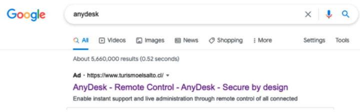 AnyDesk segurança trojan Google versão