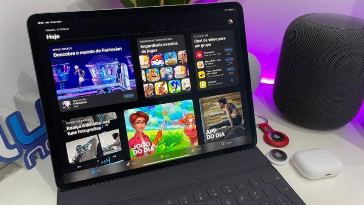 Imagem iPad Pro com App Store a loja de aplicações