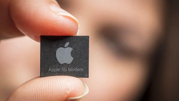 Ilustração Apple Modem 5G