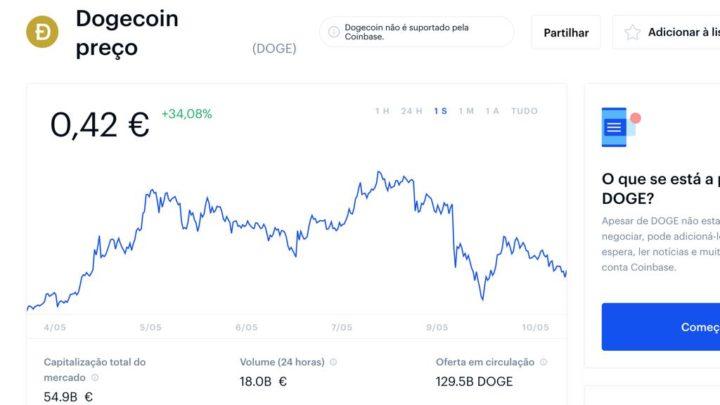 Criptomoeda Dogecoin foi do céu ao inferno! A culpa é de Elon Musk