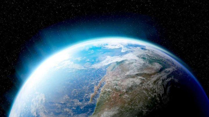 Ilustração das emissões de gases estão a encolher a estratosfera da Terra