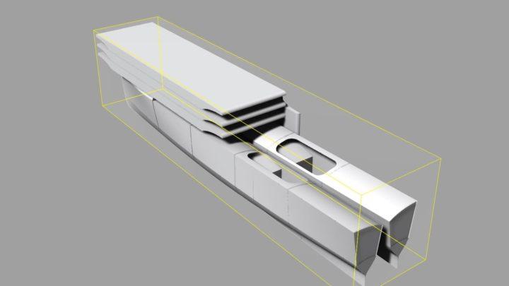 Imagem do catamarã Nova movido a energia solar