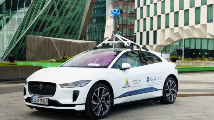 Imagem Jaguar I-PACE ao serviço do Google Street View