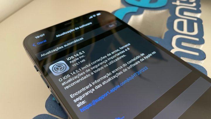 Imagem iOS 14.5.1 no iPhone 12 Pro Max