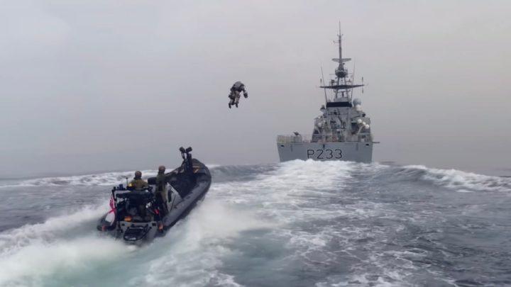 Imagem Marinha Real Britânica testa jetpacks