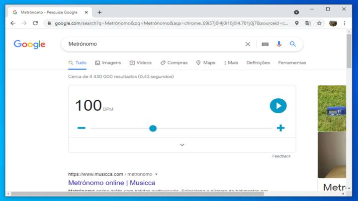 google: metrónomo